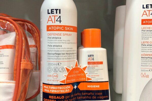 Atopic Skin Defense Spray Leti AT4: protección solar y multiprotección para pieles atópicas